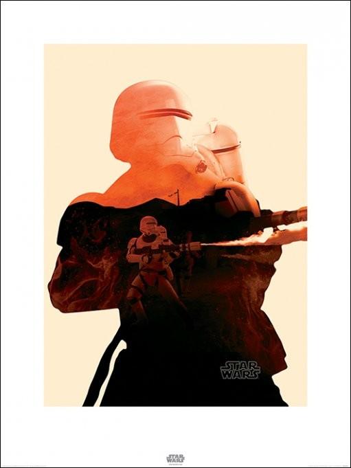 Star Wars Episode VII: The Force Awakens - Flametrooper Tri Art Print