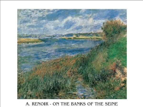 The Banks of the Seine at Champrosay, 1876 Art Print