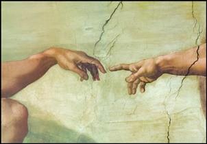 The Creation of Adam (Part) Art Print