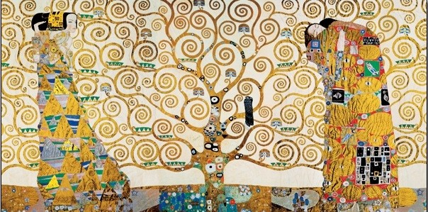 The Tree Of Life, The Fulfillment (The Embrace), The Waiting - Stoclit Frieze, 1909 Art Print