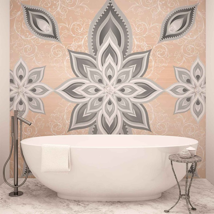 Abstract Pattern Silver Gold Poster Mural