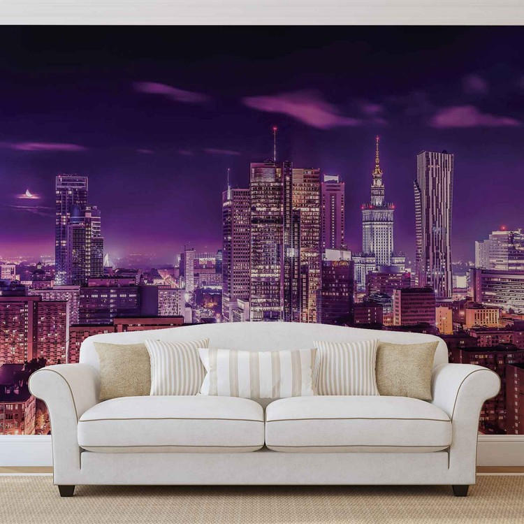 City Night Voyage de Varsovie Poster Mural