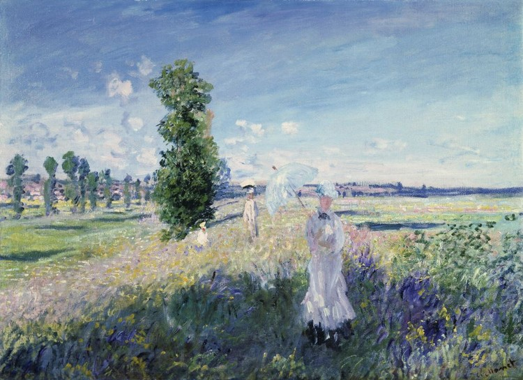 Claude Monet - Promenade à Argenteuil, 1873 Poster mural