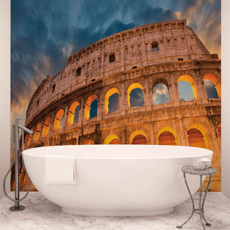 Colosseum City Sunset Poster Mural