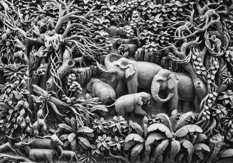 Elephants Jungle Poster Mural