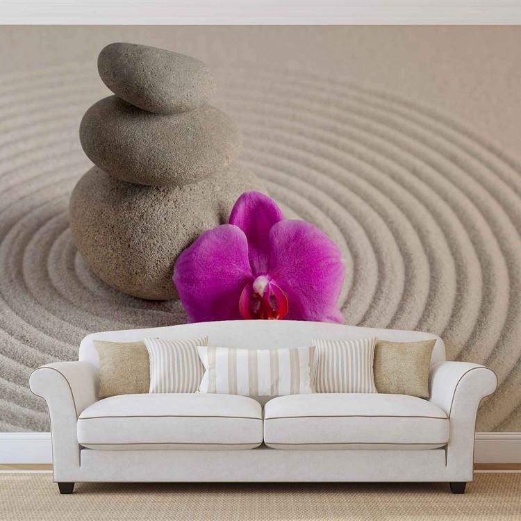 Fleur de jardin zen Poster Mural