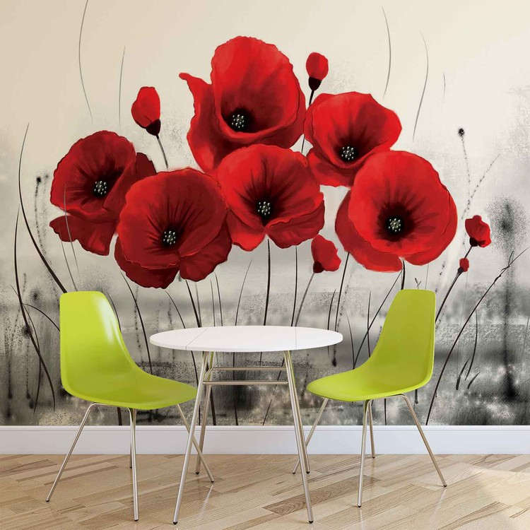 Fleurs Poppies Nature Poster Mural
