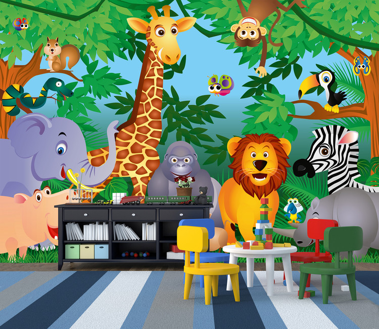 In The Jungle Poster Mural