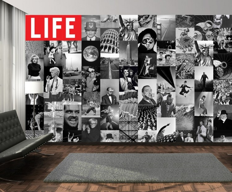Life - black and white Poster Mural