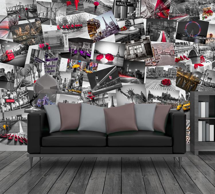 Métropoles du monde Poster Mural