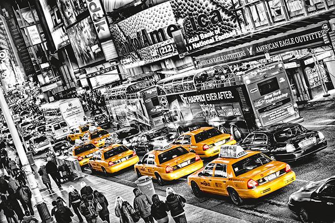 MICHAEL FELDMANN - cabs queue Poster Mural