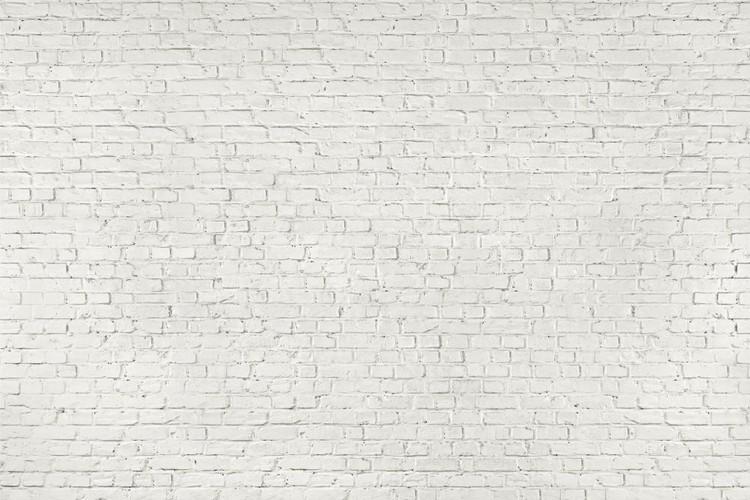 mur en briques blanches poster mural papier peint acheter le sur. Black Bedroom Furniture Sets. Home Design Ideas