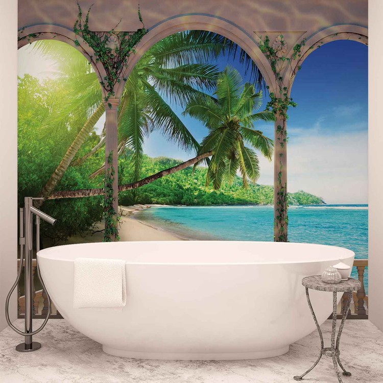 Plage tropicale Poster Mural