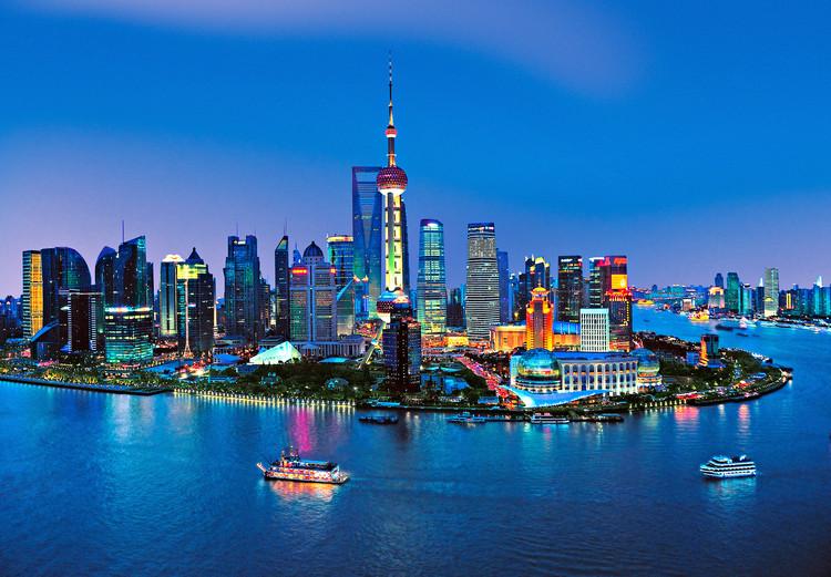 SHANGHAI - skyline Poster Mural