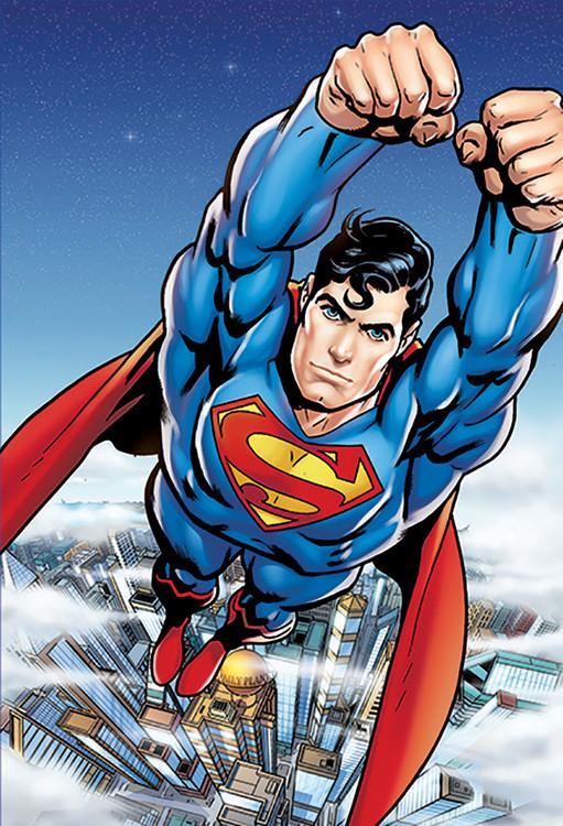 Superman Flying Poster Mural