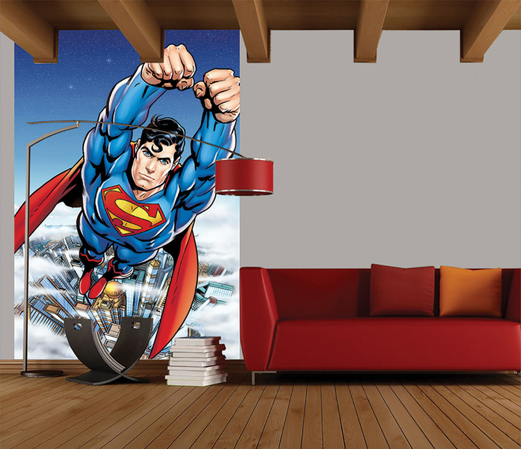 Superman Flying Poster Mural