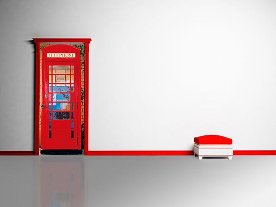 TELEPHONE BOX Poster Mural