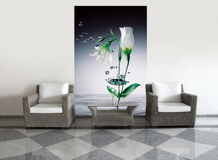 WEI YING WU - crystal flowers Poster Mural