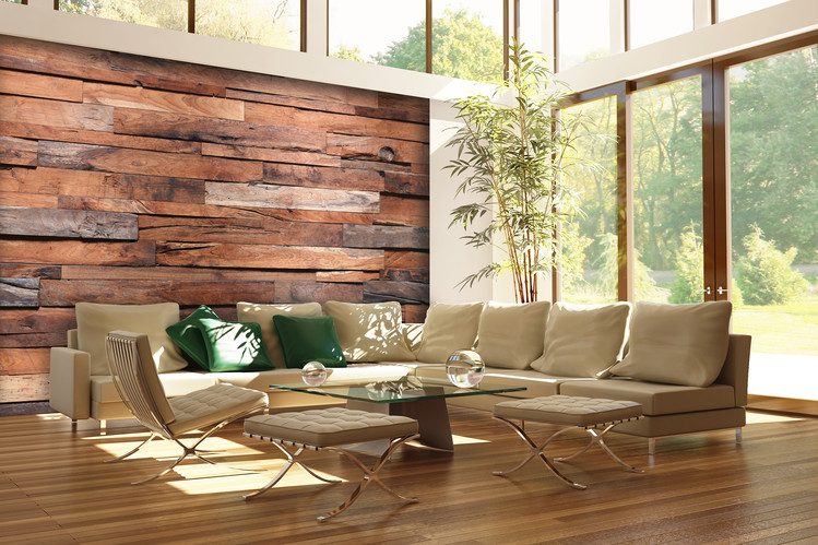 Wooden Wall Poster mural