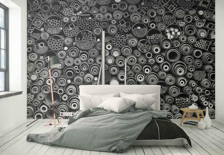 3 More Pipes Wallpaper Mural