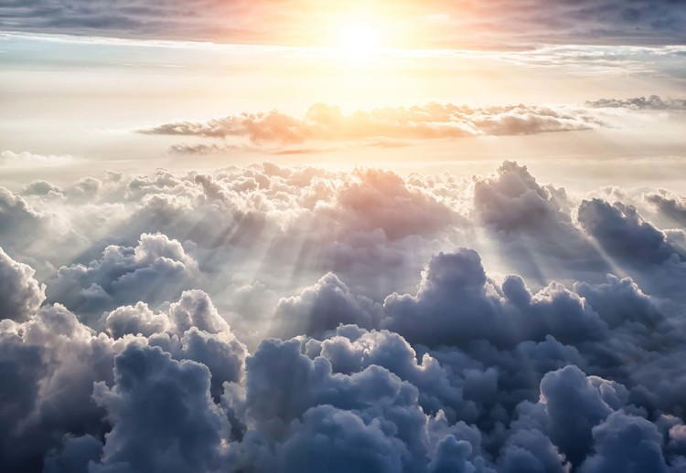 Above The Clouds Sky Wallpaper Mural
