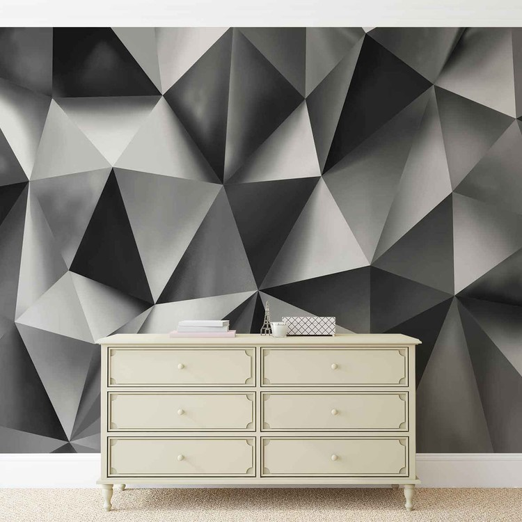 Abstract Art Grey Wallpaper Mural