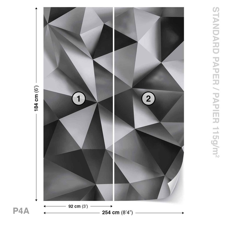 Abstract Art Grey Wallpaper Mural