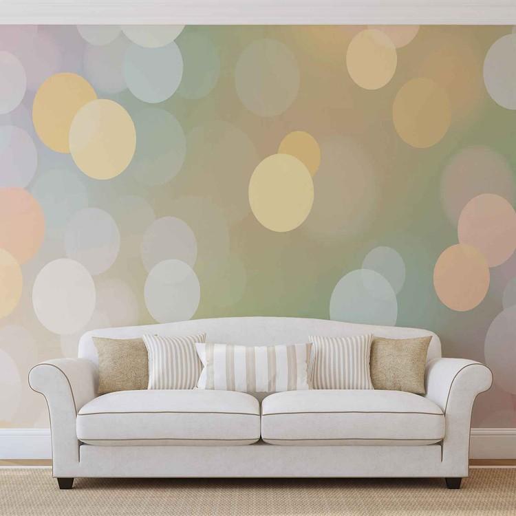 Abstract Bokeh Pastel Colour Wallpaper Mural