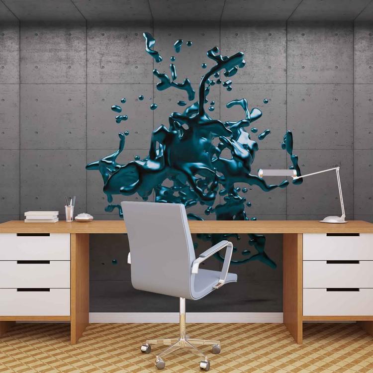 Abstract Concrete Paint Design Wallpaper Mural