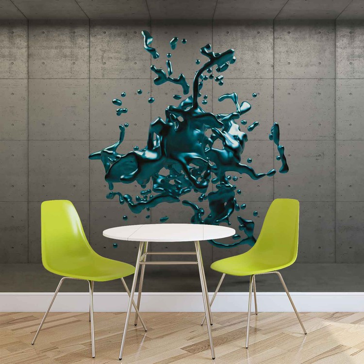 Abstract Concrete Paint Design Wallpaper Mural