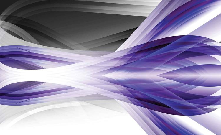 Abstract Light Pattern Purple Wallpaper Mural