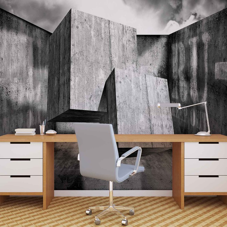 Abstract Modern Concrete Wallpaper Mural