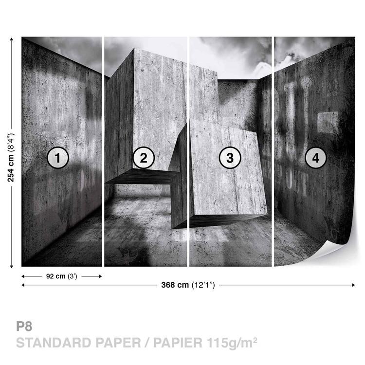 Abstract Modern Concrete Wallpaper Mural