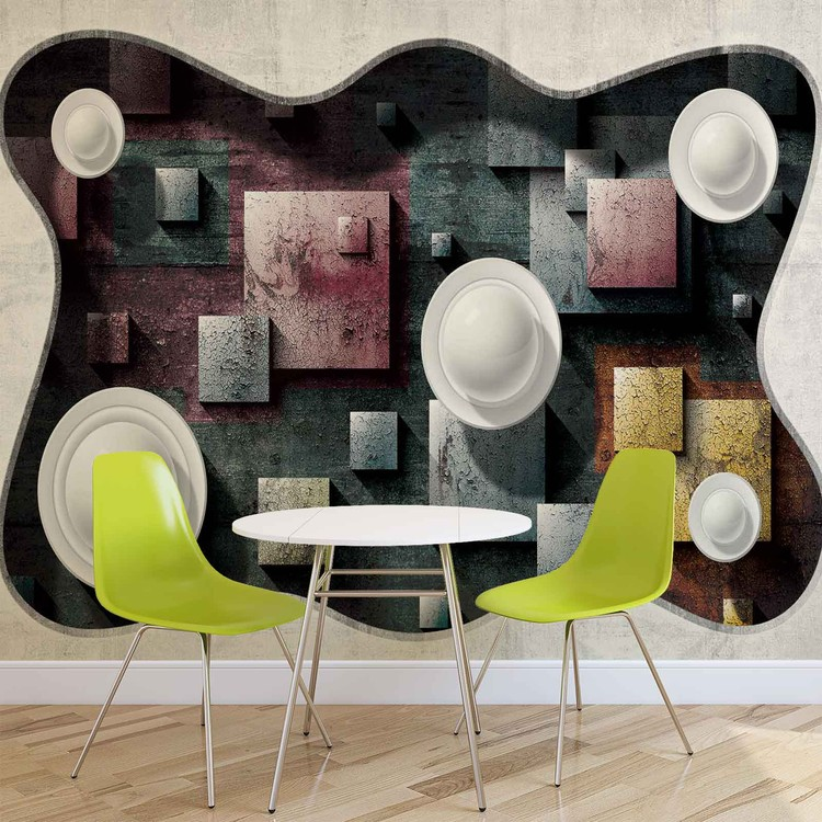 Abstract Modern Design Art Spheres Wallpaper Mural