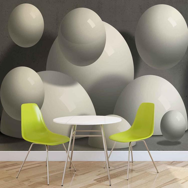 Abstract Monochrome Modern Design Wallpaper Mural