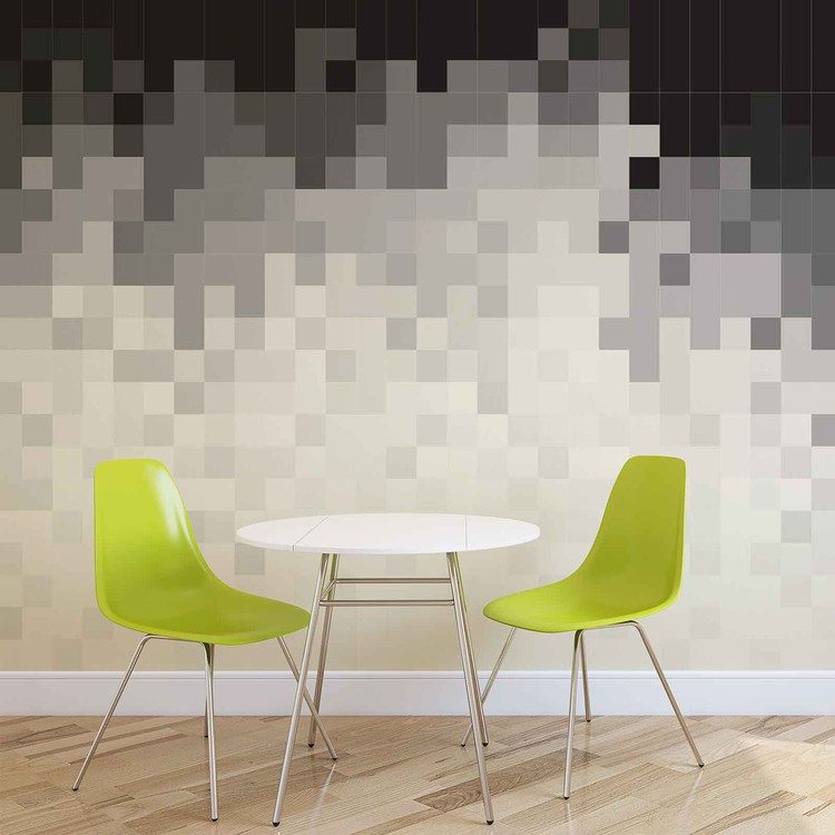 Abstract Pattern Black White Wall Paper Mural Buy At Europosters