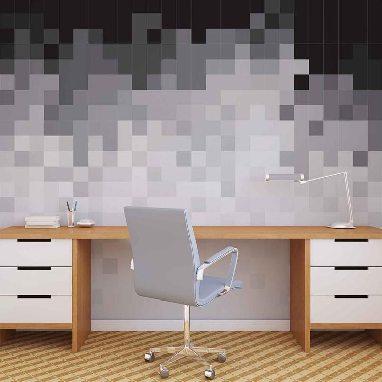 Abstract Pattern Black White Wallpaper Mural
