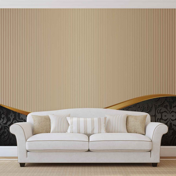 Abstract Pattern Vintage Wallpaper Mural