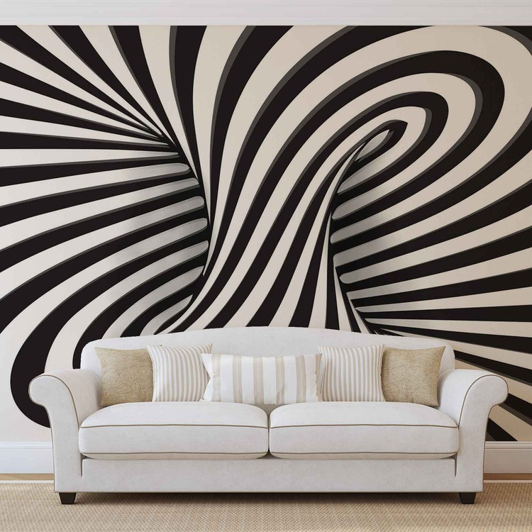 Abstract Swirl Wallpaper Mural