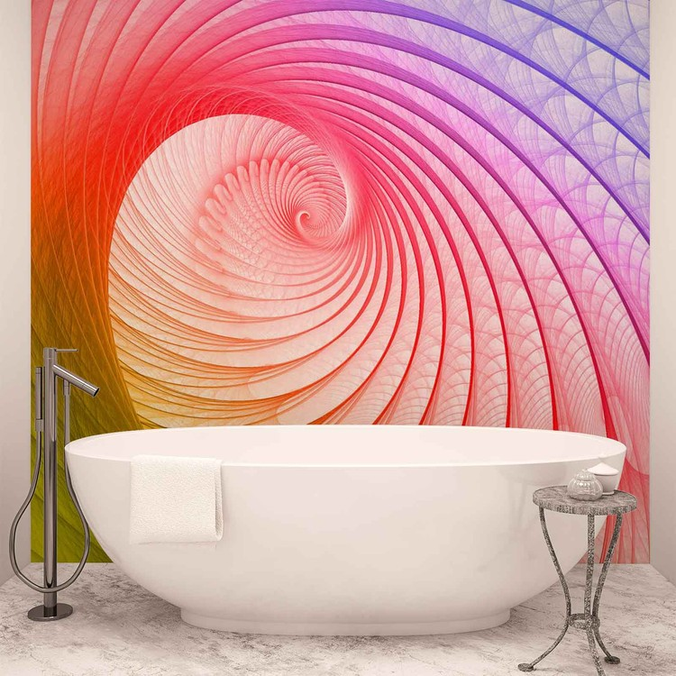 Abstract Swirl Colours Wallpaper Mural