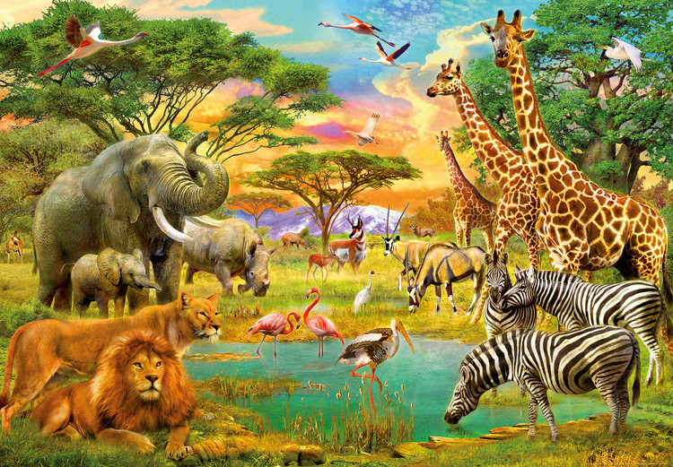 African Animals Wallpaper Mural