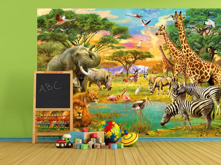African Animals Wallpaper Mural