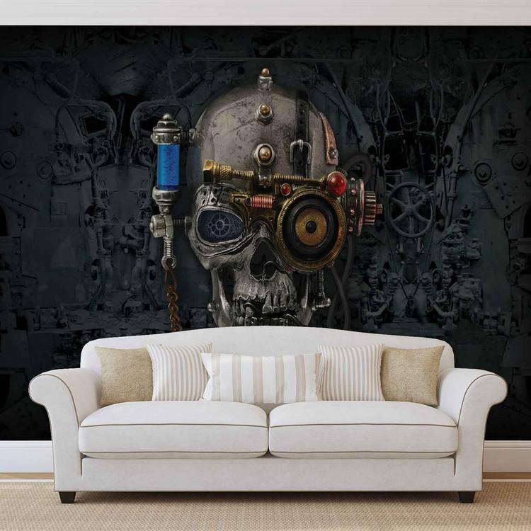 Alchemy  Art Necronaut Skull Wallpaper Mural