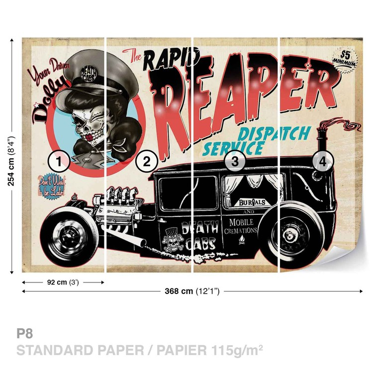 Alchemy Death Cab Cutie Car Skull Wallpaper Mural
