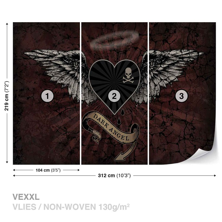 Alchemy Heart Dark Angel Tattoo Wallpaper Mural