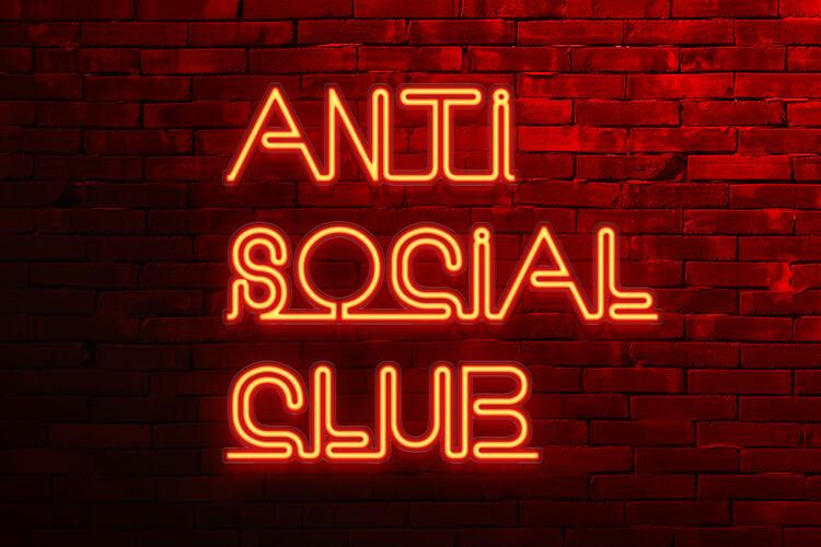 Wallpaper Mural Anti social club