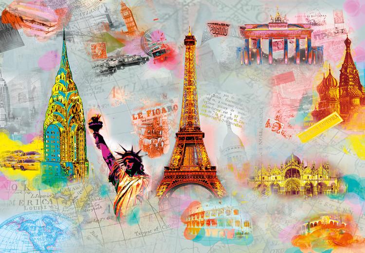 AROUND THE WORLD Wallpaper Mural