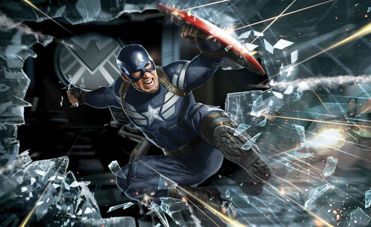 Avengers Captain America Wallpaper Mural