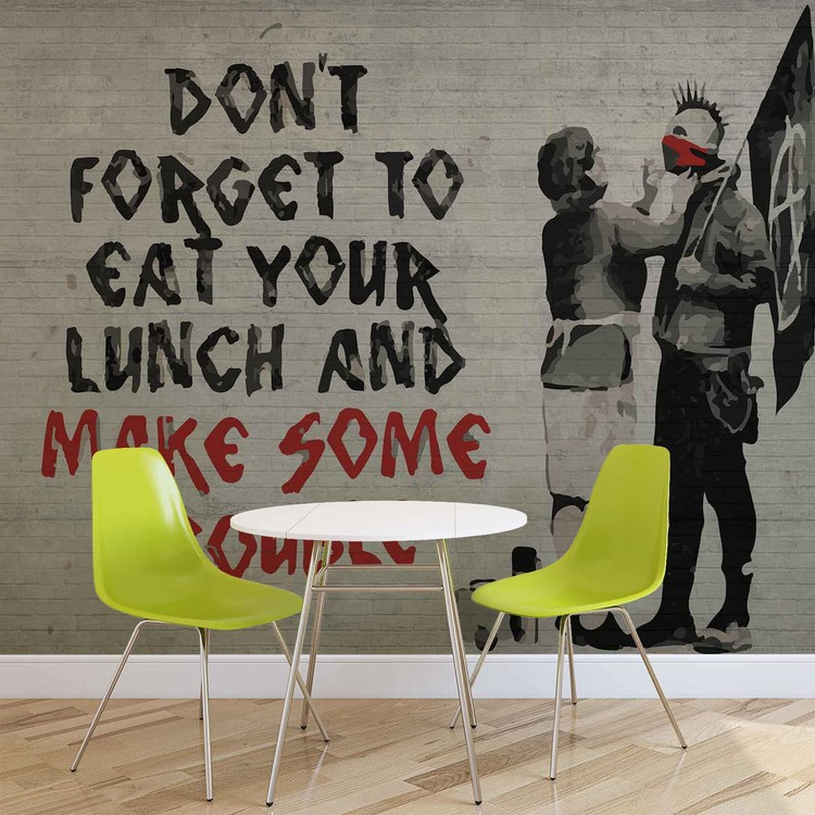 Banksy Graffiti Wallpaper Mural