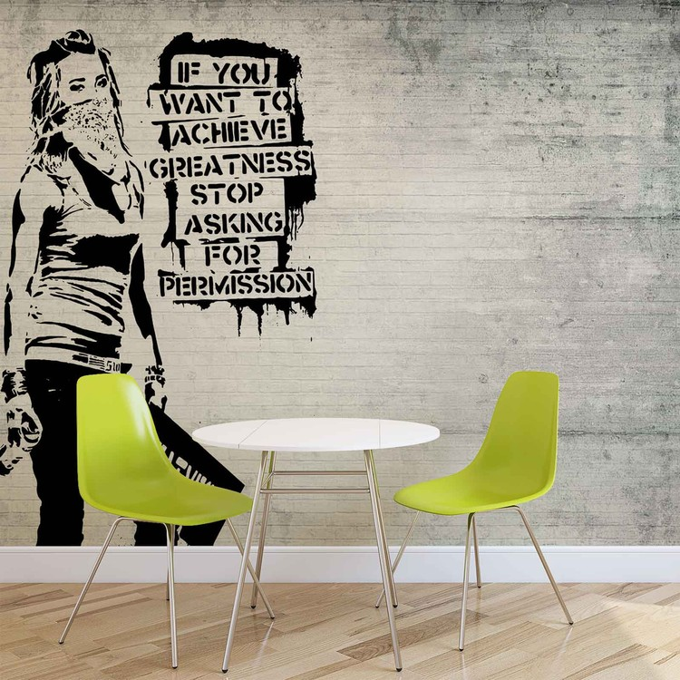 Banksy Graffiti Wallpaper Mural